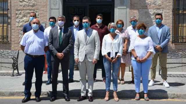 El presidente de la Diputación de Toledo, Álvaro Gutiérrez, en su visita de este martes a Fuensalida