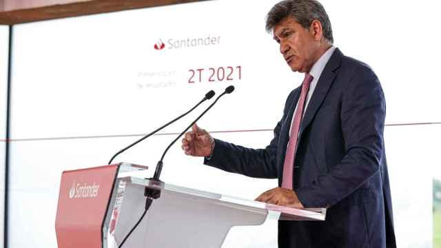 José Antonio Álvarez, consejero delegado de Santander, durante la presentación de resultados del primer semestre.