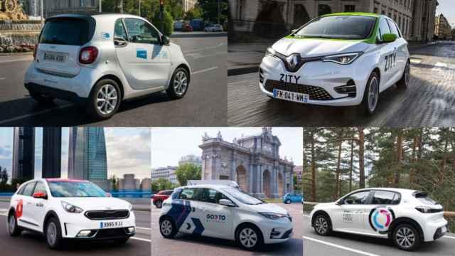 Imagen de vehículos de Share Now, Zity, Wible, Free2Now y GoTo.