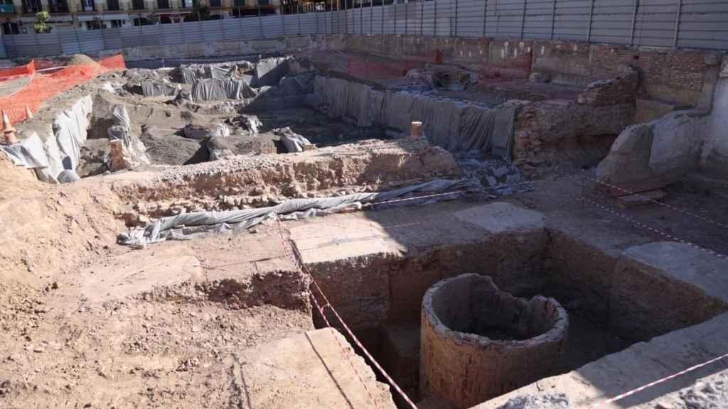 Vista de la parcela del Astoria durante los trabajos arqueológicos.