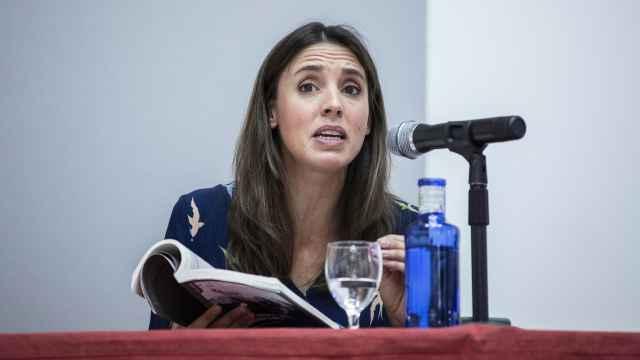 Irene Montero la semana pasada, durante los Cursos de Verano de la Universidad Complutense.