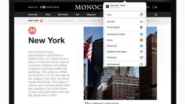 Apple, la nueva versión de Safari en iPadOS 15