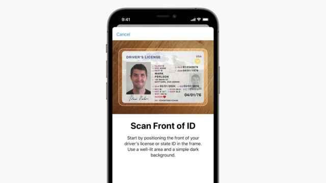 Escaneo de documento en Apple Wallet.