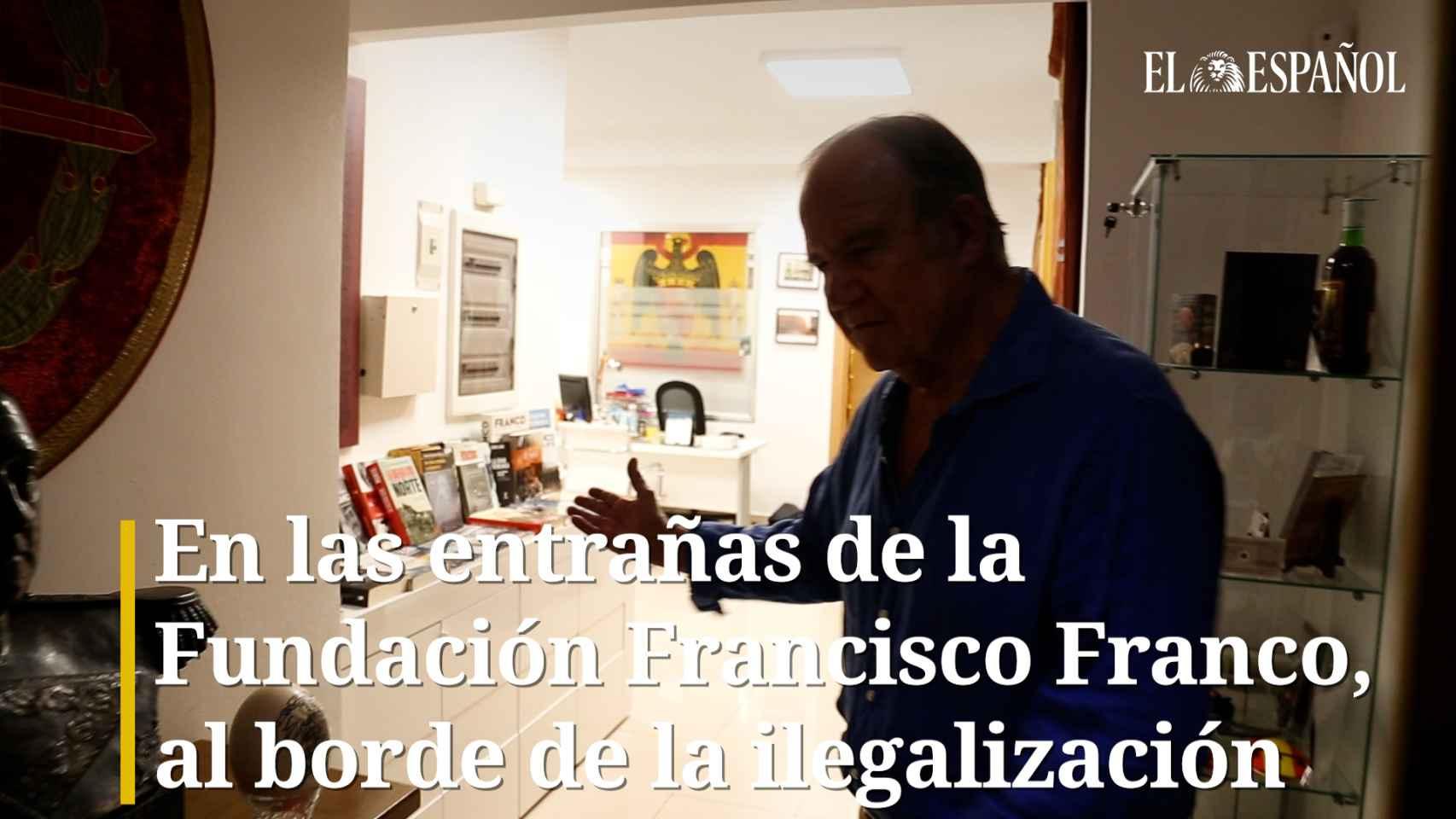 En las entrañas de la Fundación Francisco Franco, al borde de la ilegalización