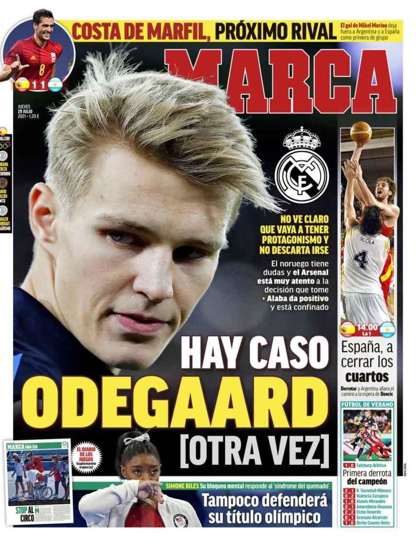 La portada del diario MARCA (29/07/2021)