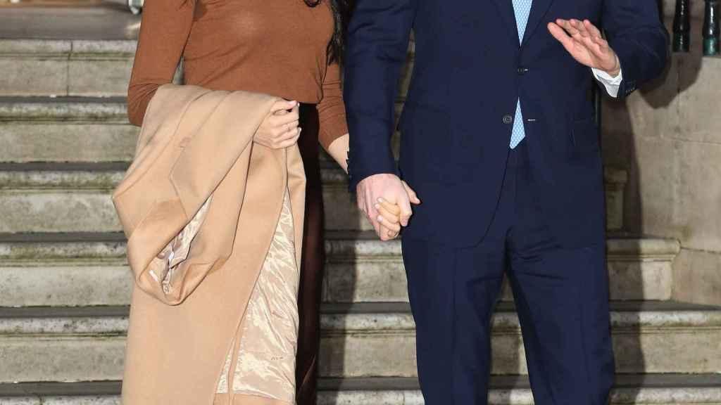 Harry y Meghan en una imagen de archivo tomada en enero de 2020.