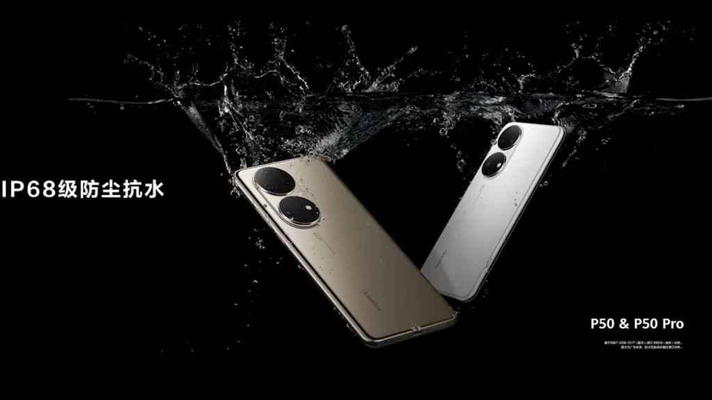 Huawei P50 y P50 Pro resistencia agua