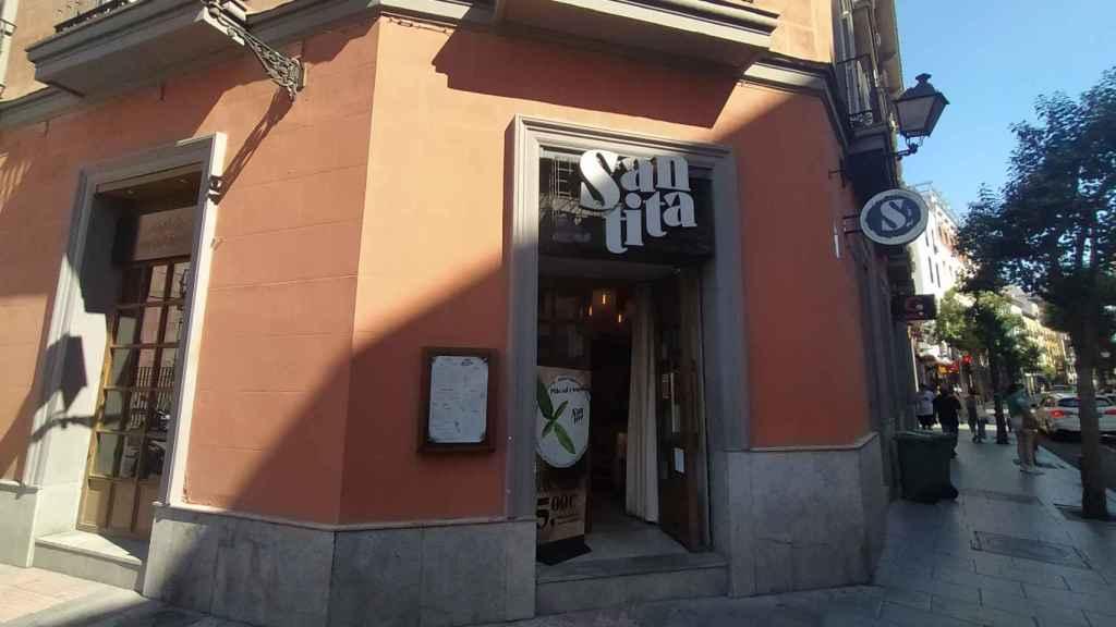 El restaurante Santita, situado en el número 74 de la calle Fuencarral.