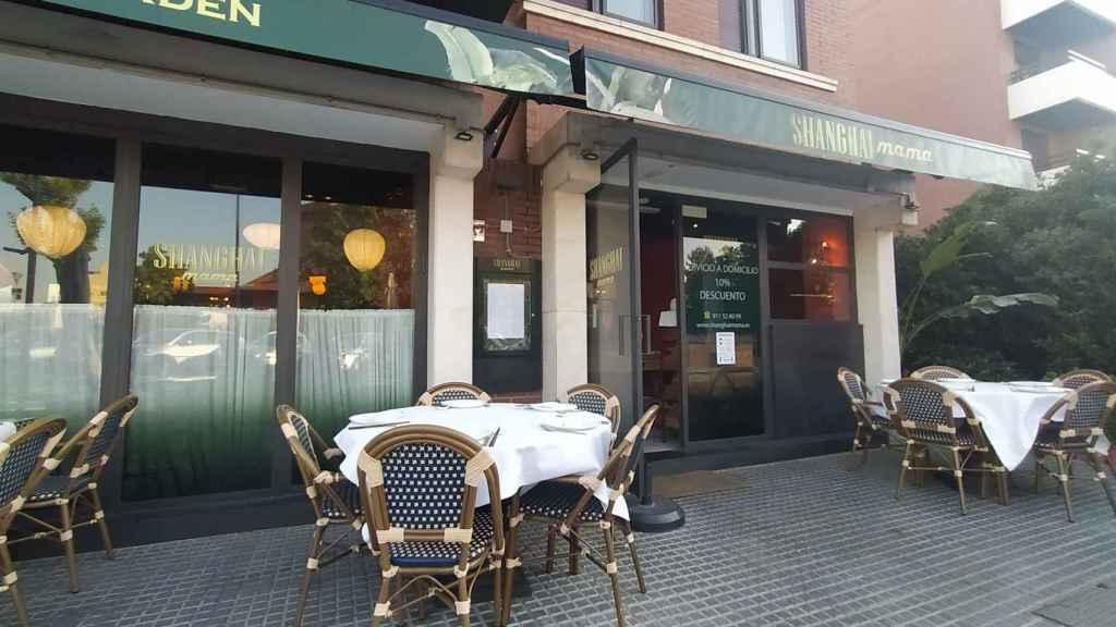 El restaurante Shanghai mama, situado en el número 1 de la calle Grecia, en Pozuelo de Alarcón (Madrid).