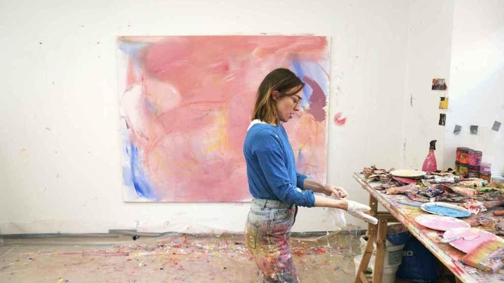 Aileen Murphy en el estudio.