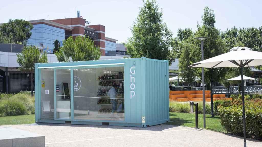 Ghop, el primer supermercado 'fantasma', es un local situado en el jardín del centro comercial Moraleja Green.