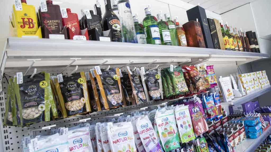 Algunos de los productos que tiene Ghop en sus estanterías.