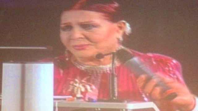 Sara Montiel, durante su discurso en el FICIE.
