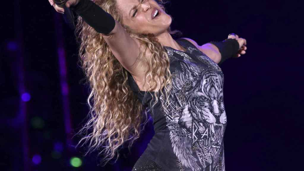 Shakira, during a concert in New York in 2018.