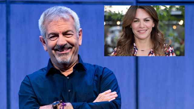 Carlos Sobera y Fabiola Martínez en montaje de JALEOS.