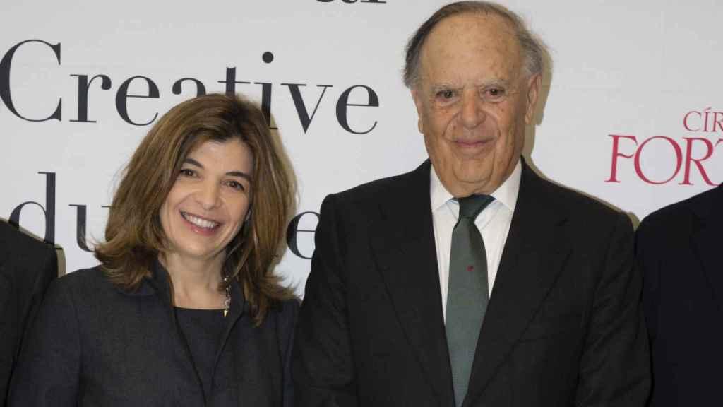 Xandra Falcó junto a su padre, Carlos Falcó, en una imagen de archivo.