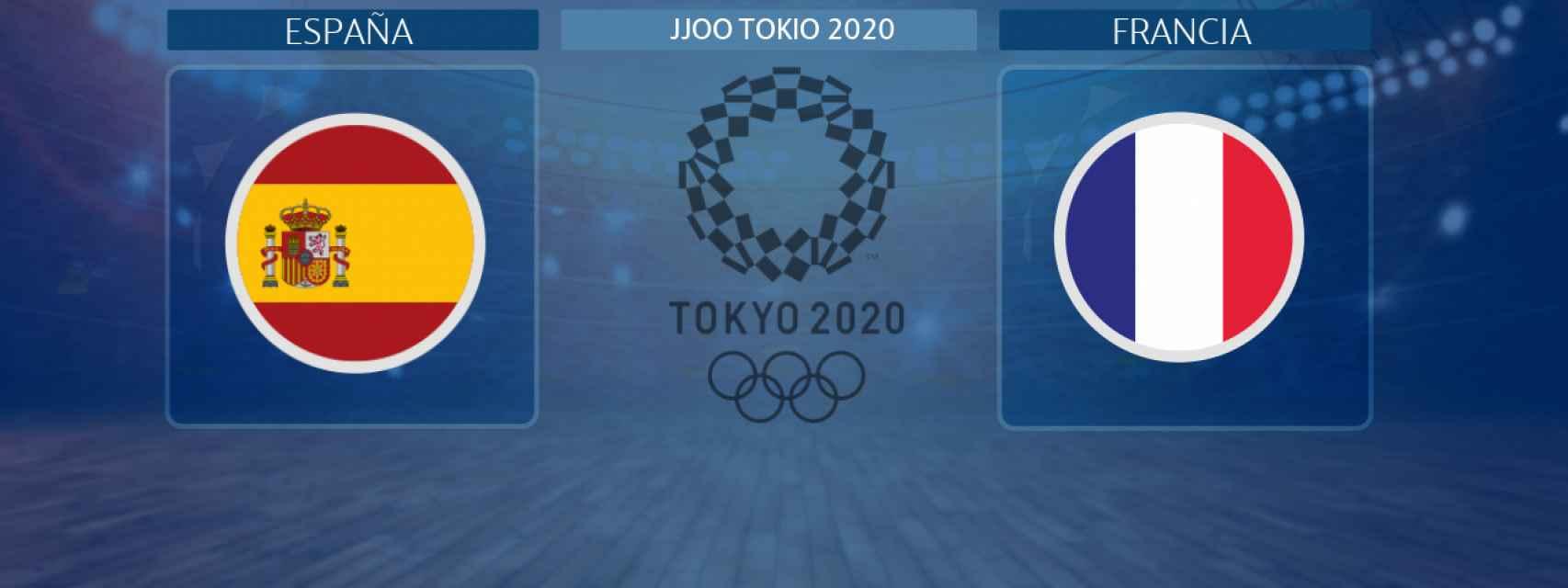 España - Francia, partido de balonmano masculino de los JJOO Tokio 2020