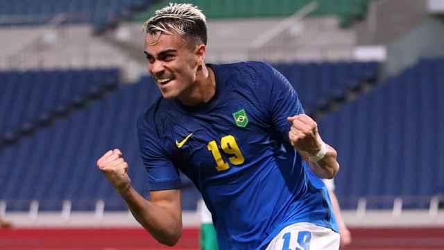 Reinier Jesús, en un partido de la selección de Brasil durante los Juegos Olímpicos de Tokio 2020