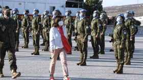 La ministra de Defensa, Margarita Robles, en el Líbano.