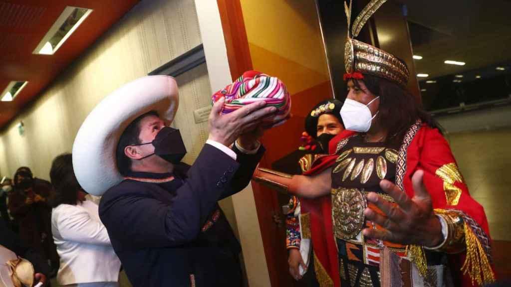Saludo de autoridades de la Nación al presidente de la República, Pedro Castillo Terrones