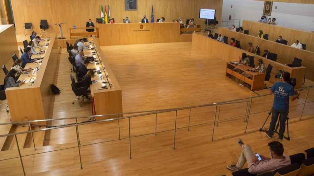 Pleno de la Diputación de Málaga.