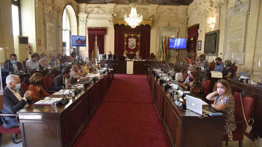 Imagen del Pleno del Ayuntamiento de Málaga.