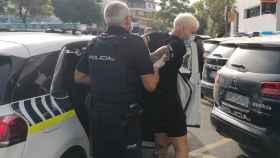 Detención del presunto agresor en Marbella.