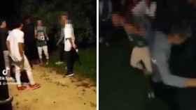 Imágenes de la brutal paliza grupal, difundida por los agresores en redes sociales.