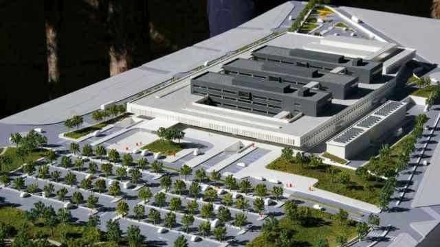 Maqueta del nuevo hospital de Puertollano