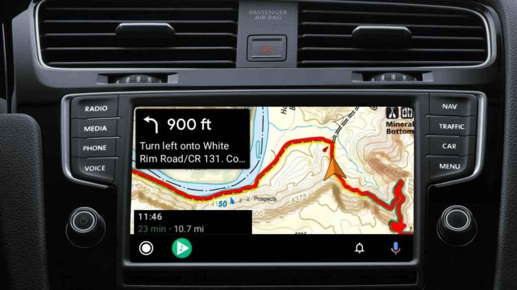 Android Auto Gaia GPS