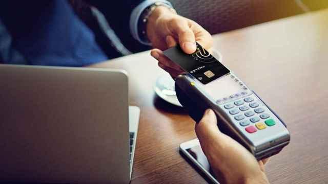 Pago con tarjeta de crédito biométrica