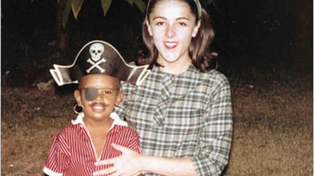 Obama y su madre.