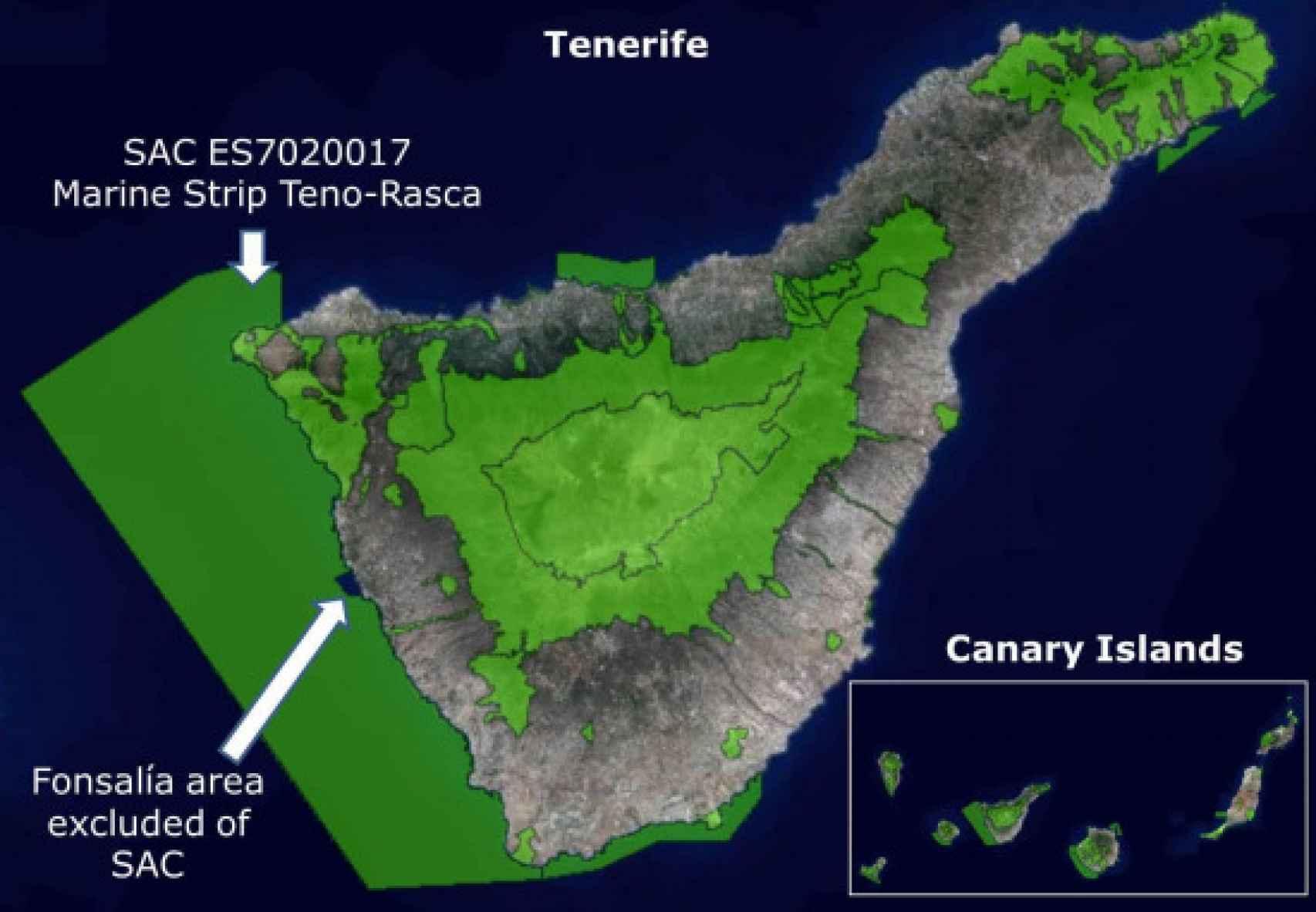 La Franja Marina Teno-Rasca, Zona de Especial Conservación (ZEC).