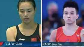 Los 'memes' que se ha hecho con los dos deportistas chinos.