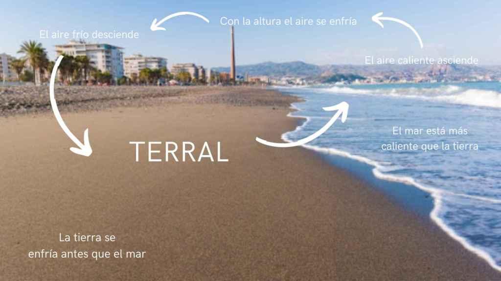¿Cómo se forma el terral, el viento más temido de Málaga?