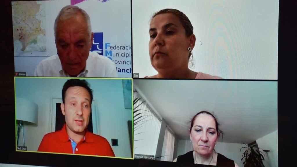 Reunión telemática de la FEMP-CLM con Telefónica