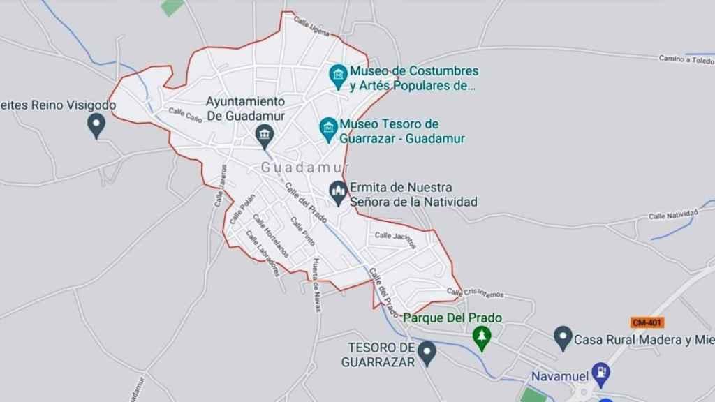 Situación de Guadamur en una imagen de Google