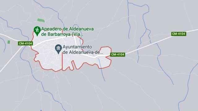 Aldeanueva de Barbarroya en Google Map