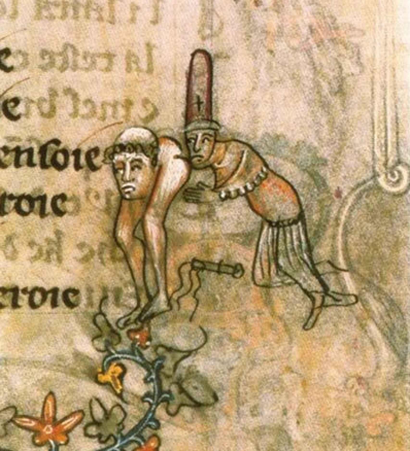 Manuscrito medieval en el que se acusa a los templarios de sodomía.
