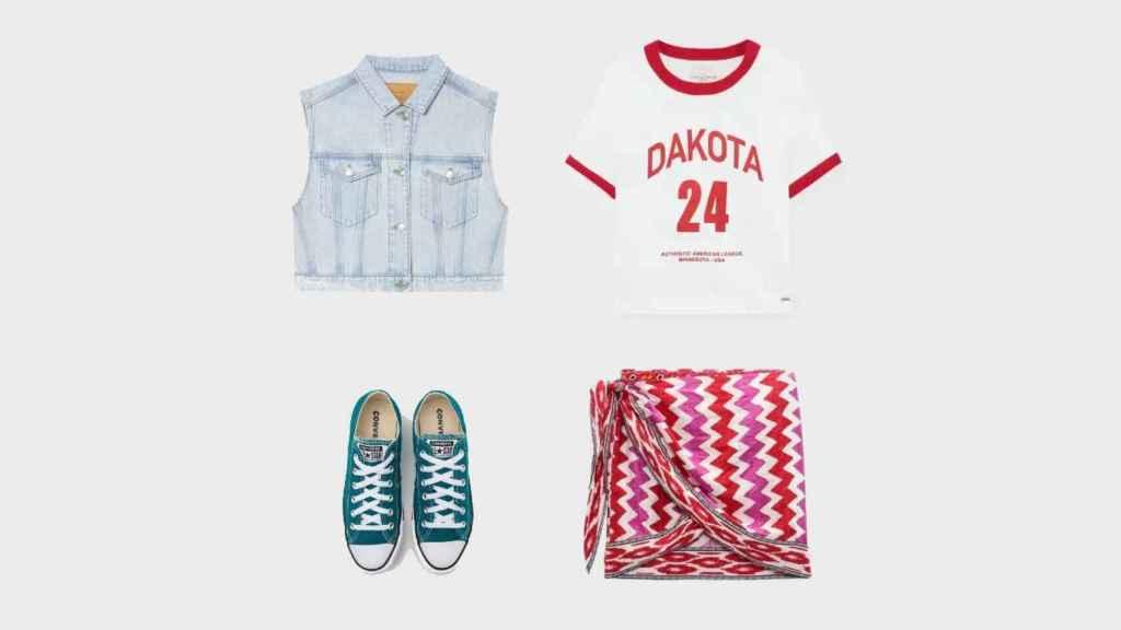 'Look' creado por EL ESTILO para lucir la falda de Zara durante el día.