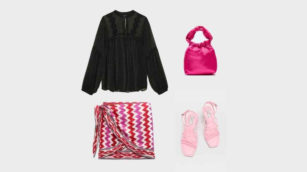'Look' creado por EL ESTILO para lucir la falda durante la noche.