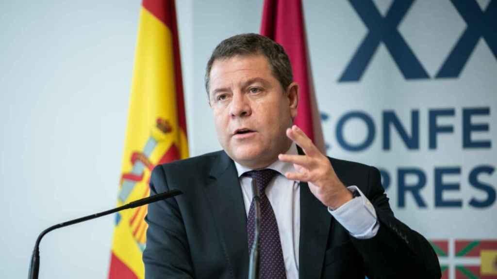 Emiliano García-Page en la rueda de prensa posterior a la Conferencia de Presidentes