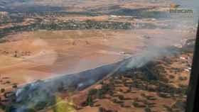 Inxcendio en Escalona (Toledo). Foto: Infocam