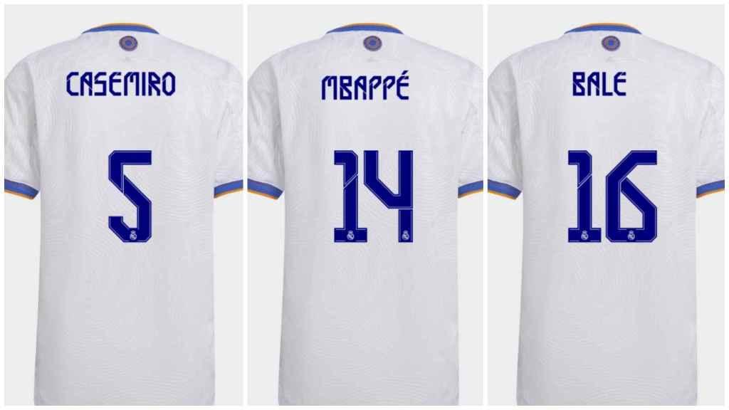 ¿Los dorsales de Casemiro, Mbappé y Bale?