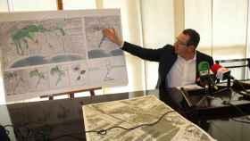 El alcalde de Benidorm, Toni Pérez, presentando los proyectos.