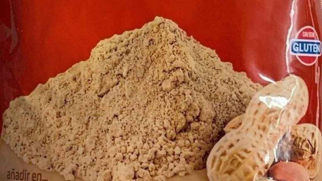 Polvo de cacahuete de Hacendado.