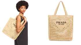 El exclusivo bolso de Prada, fabricado con rafia.