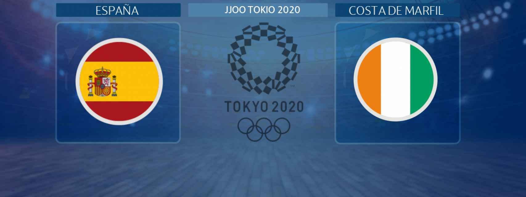 España - Costa de Marfil,cuartos de final de fútbol de los JJOO de Tokio 2020