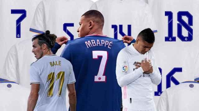 Así podría quedar el baile de dorsales del Real Madrid