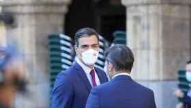 Pedro Sánchez en Salamanca antes del inicio de la XXIV Conferencia de Presidentes.